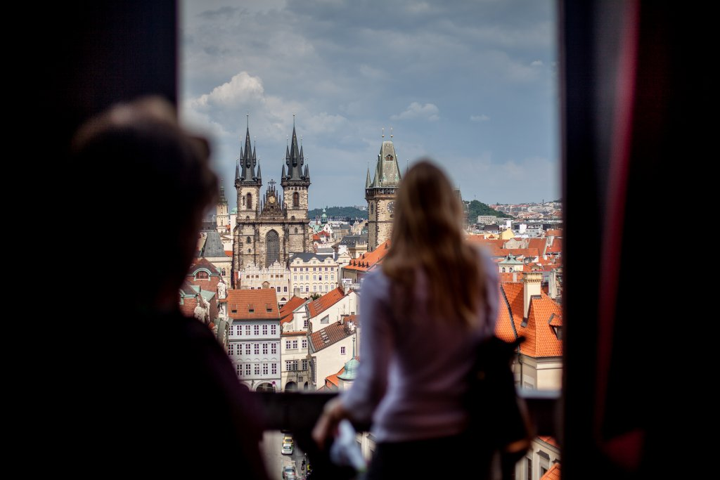 Prague, view to the Old Town Square Tower